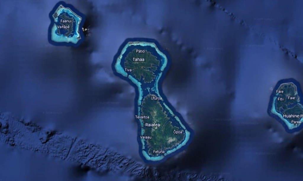 Mapa Tahaa