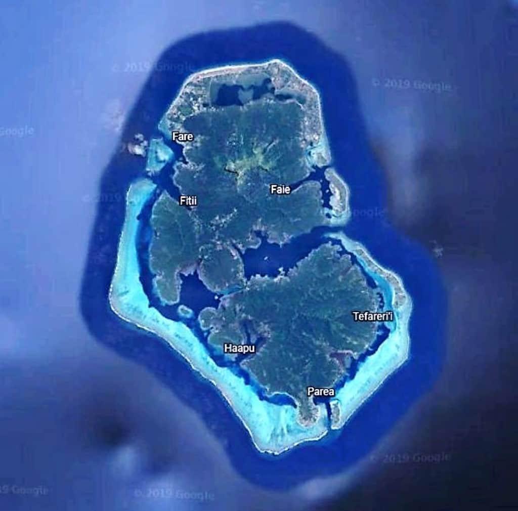 Mapa Huahine