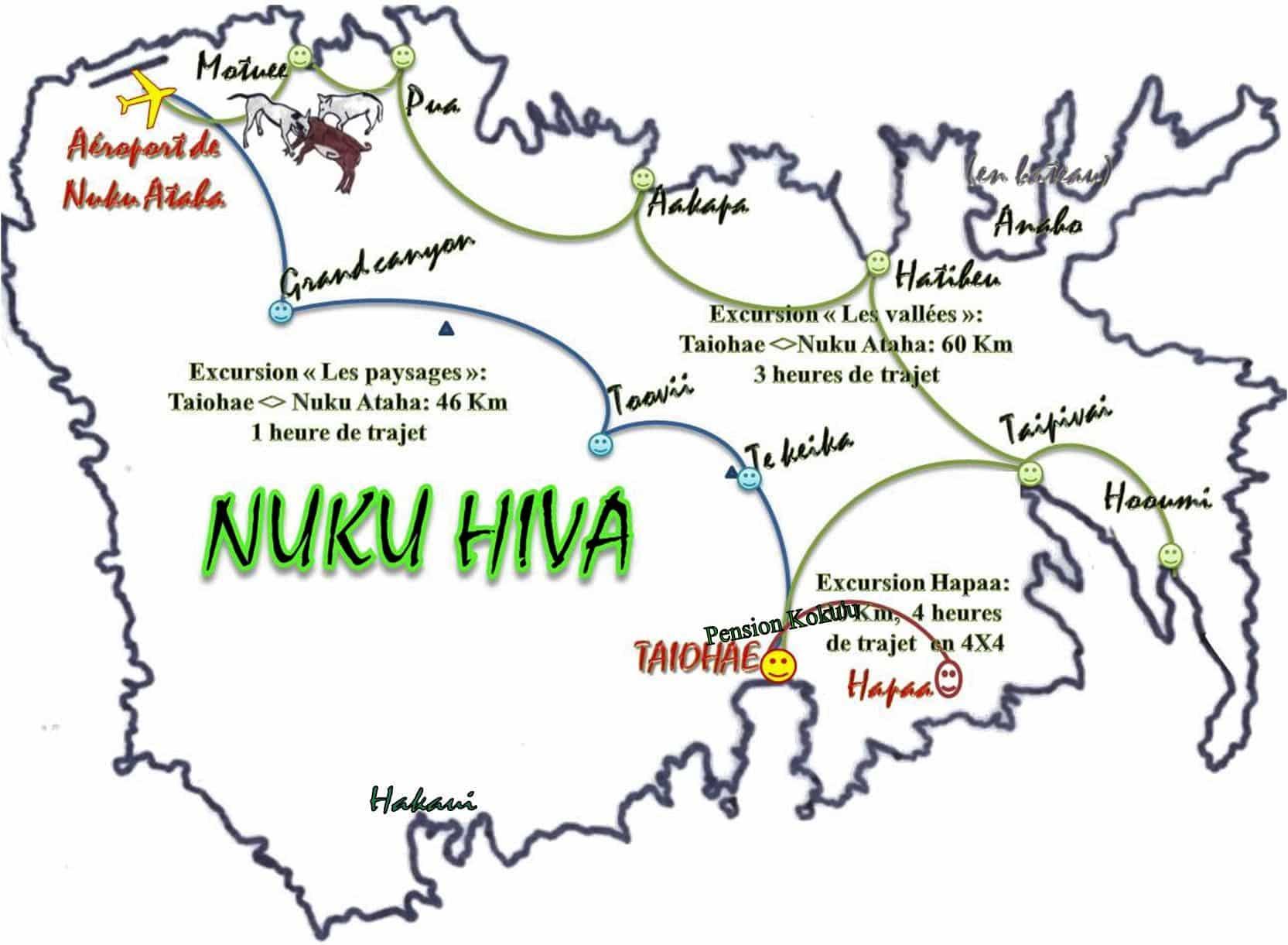 mapa Nuku Hiva